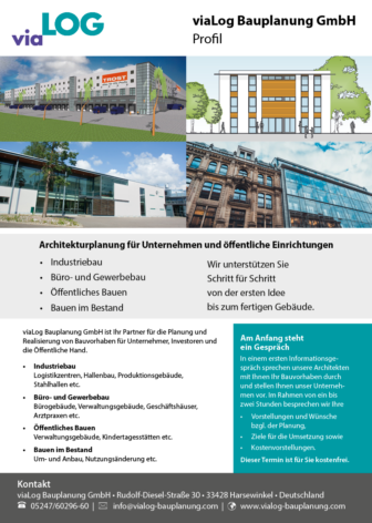 viaLog Bauplanung Leistungen Unternehmen und öffentliche Einrichtungen